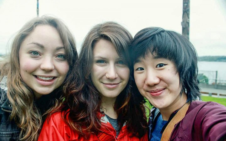 Kendra McLaughlin, Evangeline Hammond, Celine Chuang, the first three residents of Casapluma