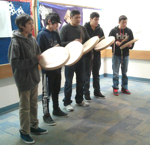 The Canada 300 show opened in Yellowknife with a drum prayer.